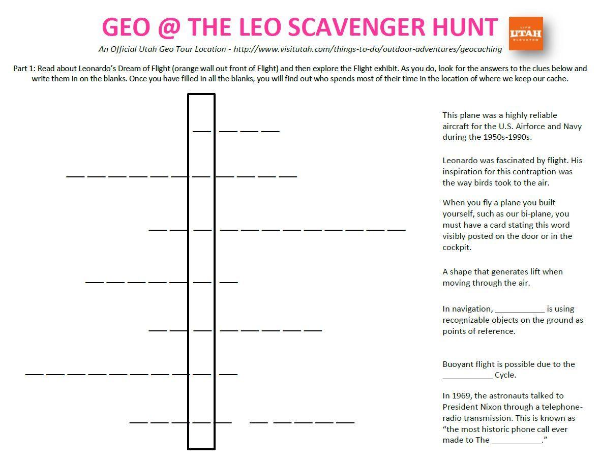 Scavenger Hunt Pg. 1