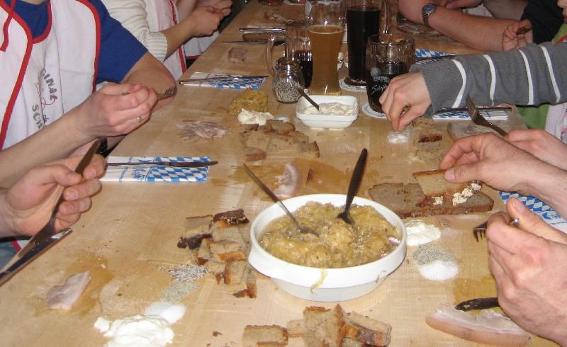 Original Schweinfurter Schlachtschüssel vom Brett