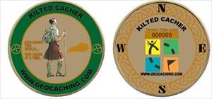 Kilted Cacher's Geocoin
