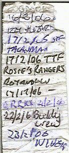 Page 1 of original logbook