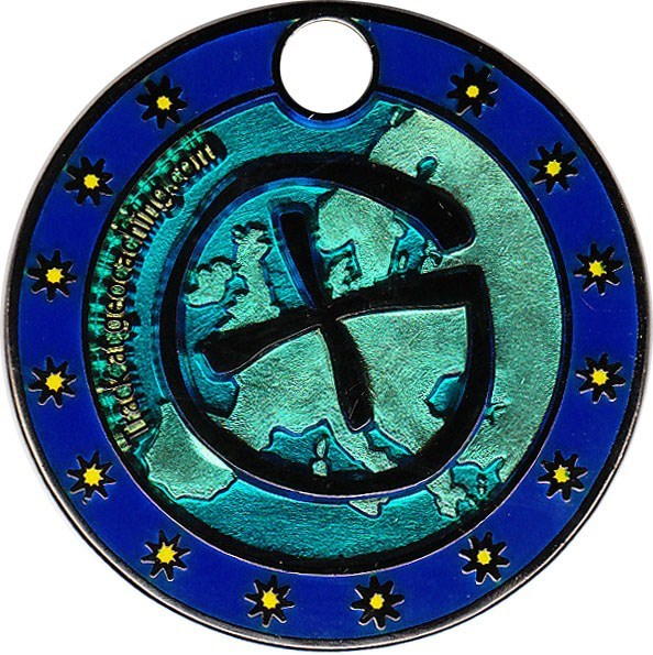 Flags of Europe Geocoin - back