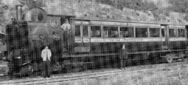 A Steam railmotor unit of the type used at Old Ynysybwl Halt