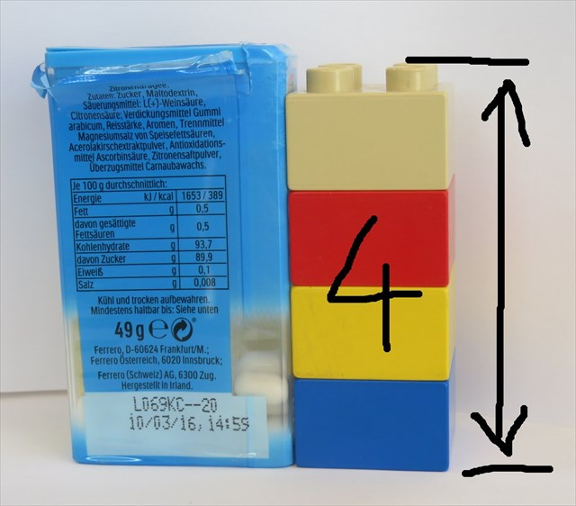 Lego Würfel übereinander