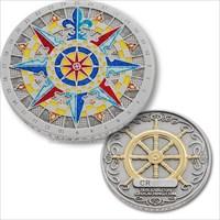 Compass Rose 2007 Antique Silver