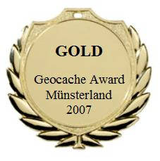 GOLD - Geocache Award Münsterland 2007