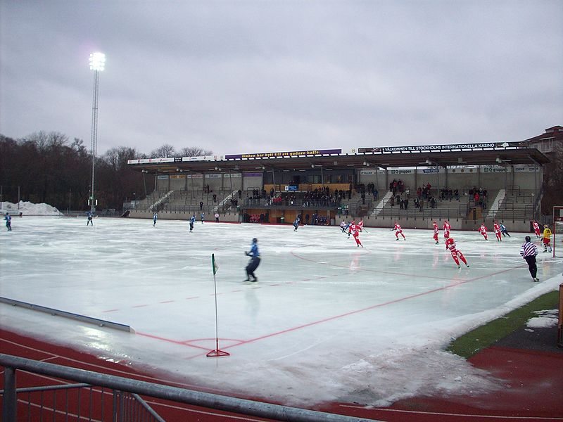 Zinkensdamms IP during winter