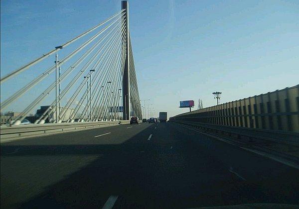 Lanový most - od silnice