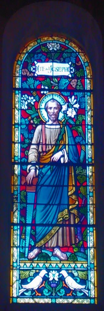 Vitrail représentant St Joseph