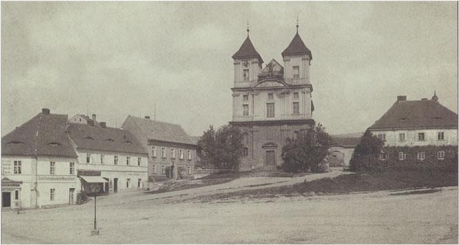 Masarykovo námestí pred úpravou v roce 1887