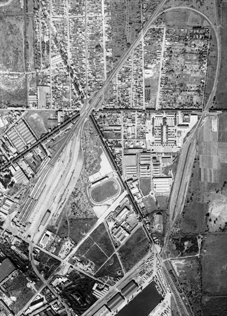 vue aérienne années 50