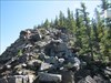 The trail gets a bit steep
