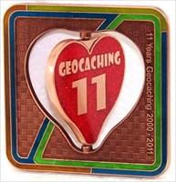 11 Years Geocaching - Vorderseite
