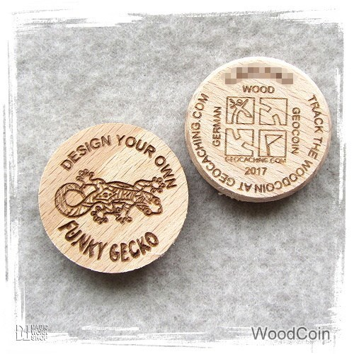 Funky Gecko WoodCoin