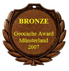 BRONZE - Geocache Award Münsterland 2007