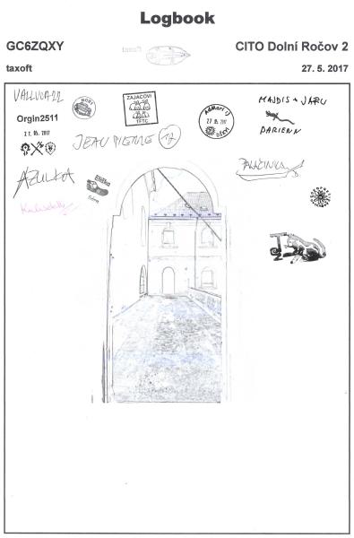 GC6ZQXY - CITO Dolní Ročov 2 - logbook