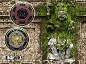 Cache of the Titans - Medusa Geocoin / Brimstone