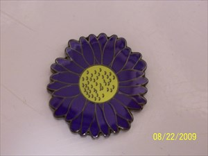 Purple Daisy Micro Geocoin