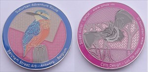 Berchem Street Art Geocoin