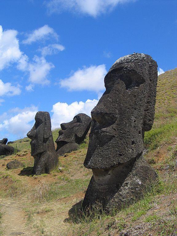Eine Moai-Statue auf der Osterinsel