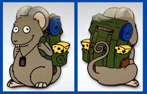 Mouse on Tour Geocoin - Edgar
