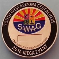2016 S*W*A*G Mega Event geocoin front
