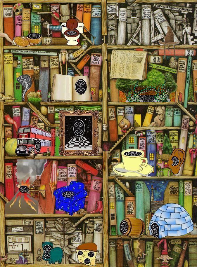 Bücherregal Gemalt