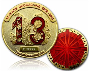 13 Years Geocaching Coin