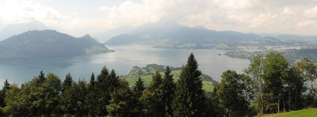 Blick vom Rigi auf den Vierwaldstädter See