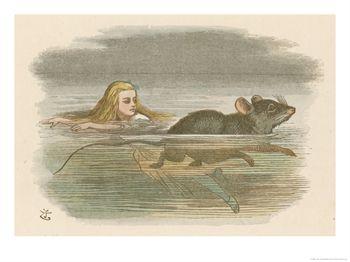 Zwemmend ontmoet Alice de muis