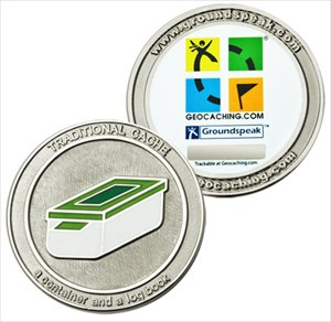 Groundspeak coin front/back