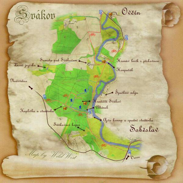 Mapa s procházkami