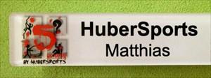 HuberSports Event-Namenschild
