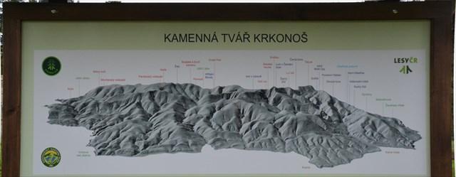 Cedule s plastickou mapou Krkonoš