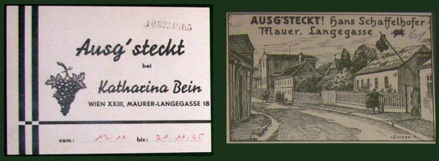alte Aussteckkarten