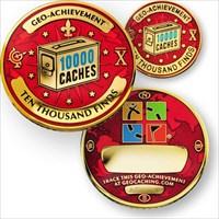 10000 Finds Geo-Achievement Geocoin