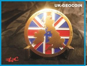 UK-Geocoin 2005 *VENI-QUAESIVI-INVENI*