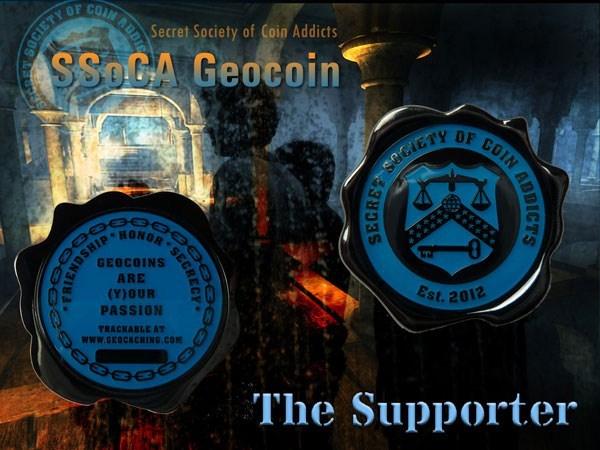 SSoCA Geocoin - The Supporter