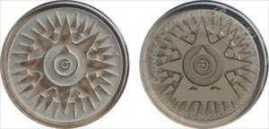 Crystal Compass Rose Geocoin - Earthstone