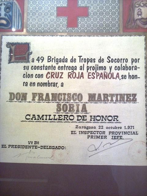Camillero de honor