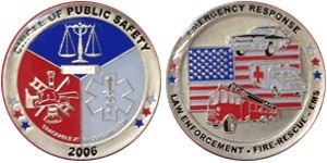 Emergency Response Silver Geocoin