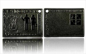 Geocacher Plaque Geocoin Black Nickel
