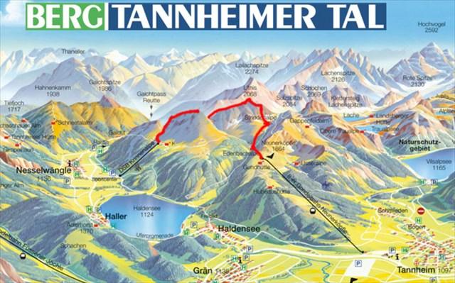Tannheimer Tal Karte.Gc6qf54 Sat G001 Krinnenspitzen Trail Start Letterbox