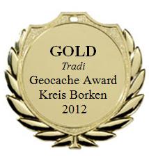 GOLD (Tradi) - Geocaching Award Kreis Borken 2012