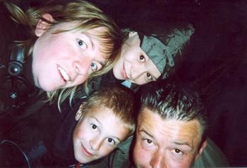 Nathalie, Michiel, Guillaume en Brik