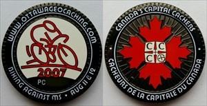 Biking Against MS 2007 Geocoin