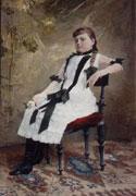 Václav Brožík - Portrét francouzské dívky