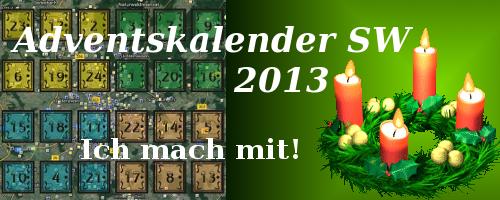 Ich bin ein Owner des Adventskalenders Schweinfurt 2013