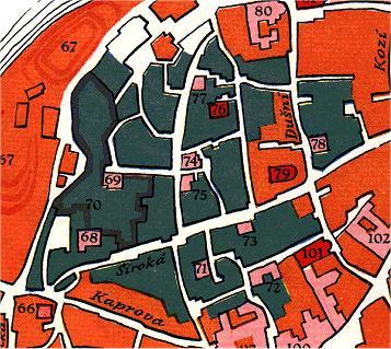 Stare zidovske mesto - mapa