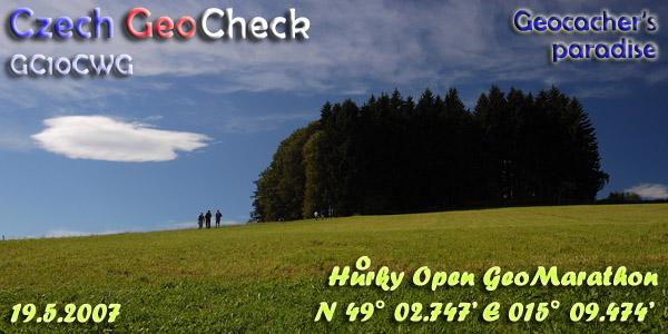 Czech GeoCheck, 19.5.2007, N49 02.747 E15 09.474