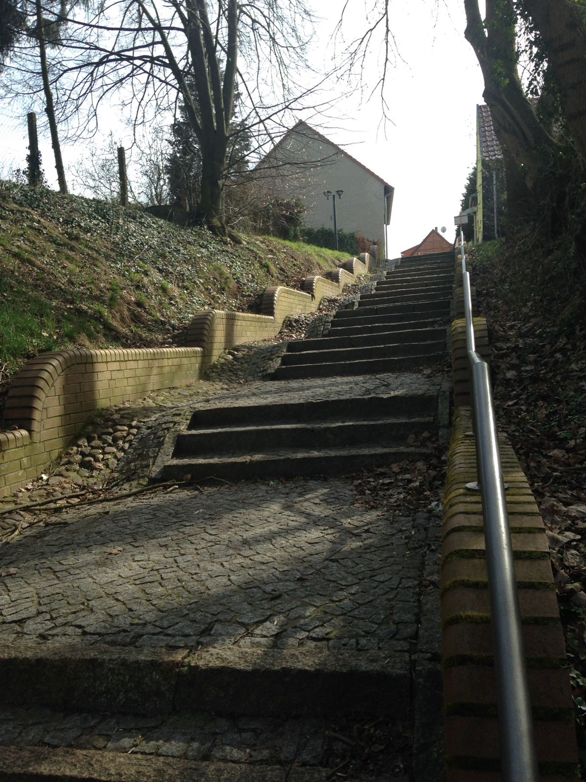Steintreppe am Horning